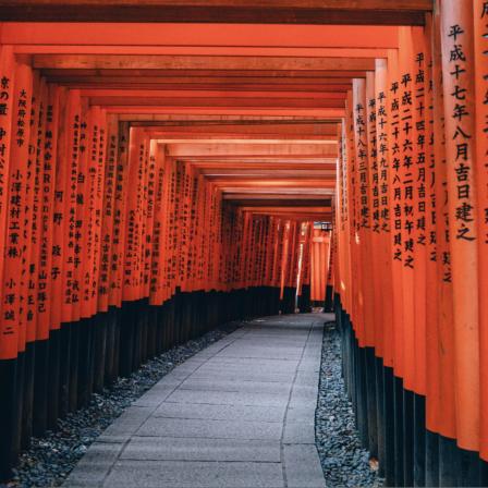 Gang igennem japansk tempel
