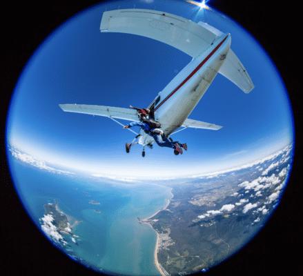 Skydiving fra fly