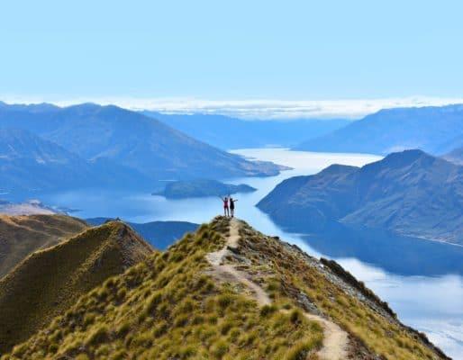 Bjergudsigt i New Zealand