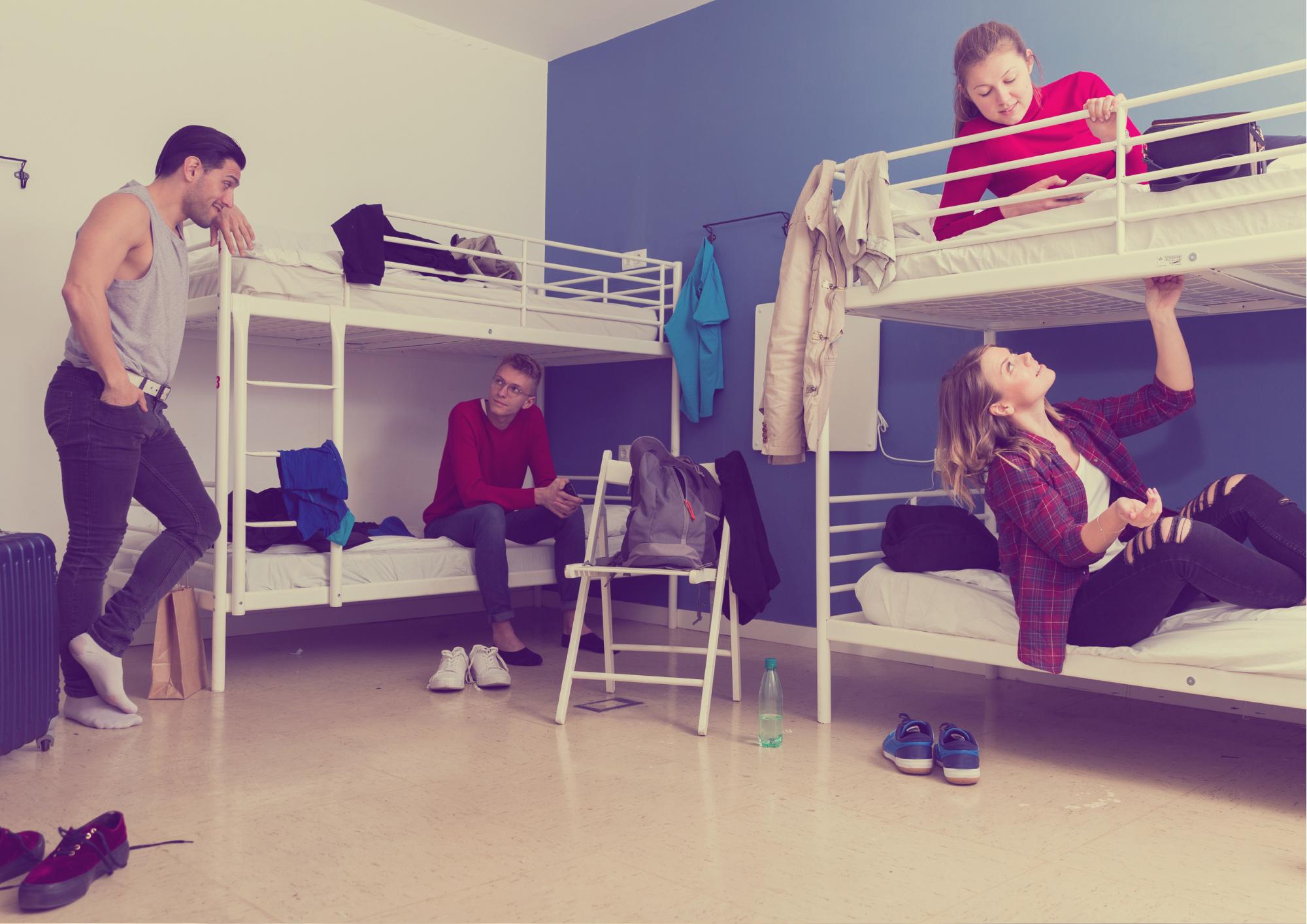 Roomies på hostel