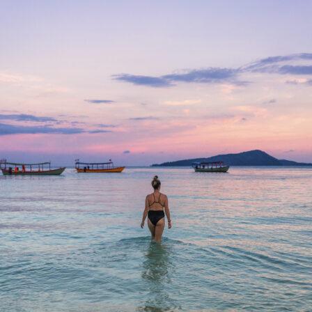 Solnedgang i Cambodja
